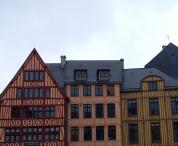 Colombages à Rouen. Aussi bien qu'à Strasbourg.